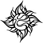 TRIJYA 太陽マークステッカーブラック(S)