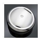 "Arlen Ness Smooth Chrome 8"" Round Air Cleaner Cover"