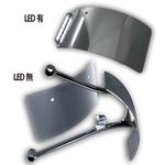 RRナンバーサイドマウント 曲面 LED クローム