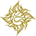 TRIJYA 太陽マークステッカーゴールド(S)