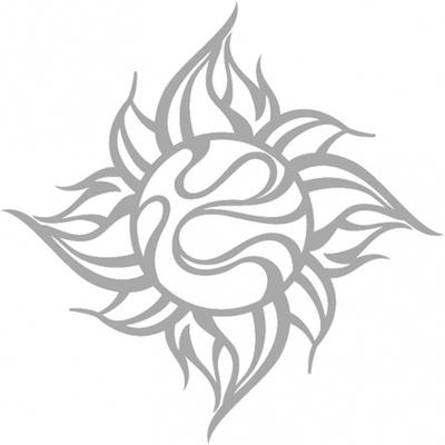 TRIJYA 太陽マークステッカーシルバー(S)