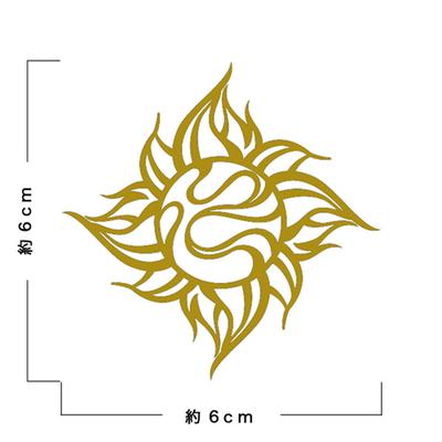 TRIJYA 太陽マークステッカーゴールド(M)