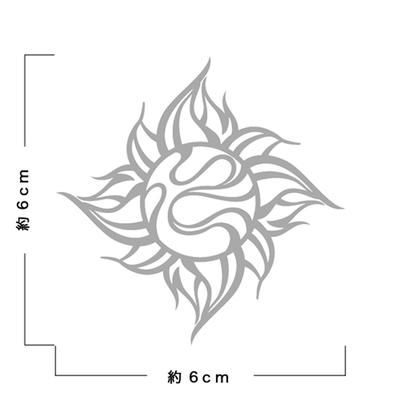 TRIJYA 太陽マークステッカーシルバー(M)