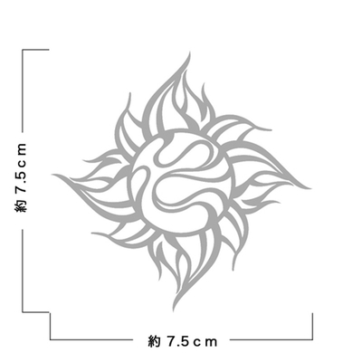 TRIJYA 太陽マークステッカーシルバー(L)