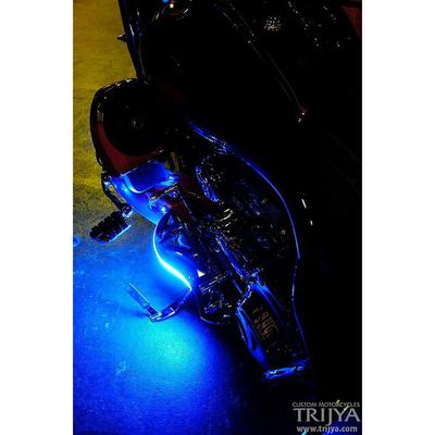 フットボード Knight ポリッシュ LED ブルー