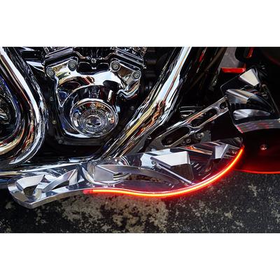 フットボード Knight ポリッシュ LED レッド