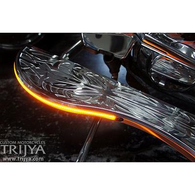 フットボード Type02 ポリッシュ LED アンバー