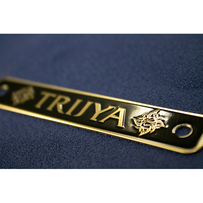 TRIJYA 太陽ロゴ エンジンプレート ブラス