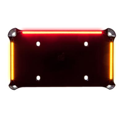 ナンバーフレームサポート LED ターン&テール ブラック