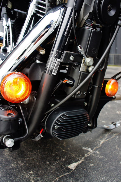 ABS用 ウインカーステー ショート クローム/SOFTAIL/FXCW/FXCWC/ FXSB