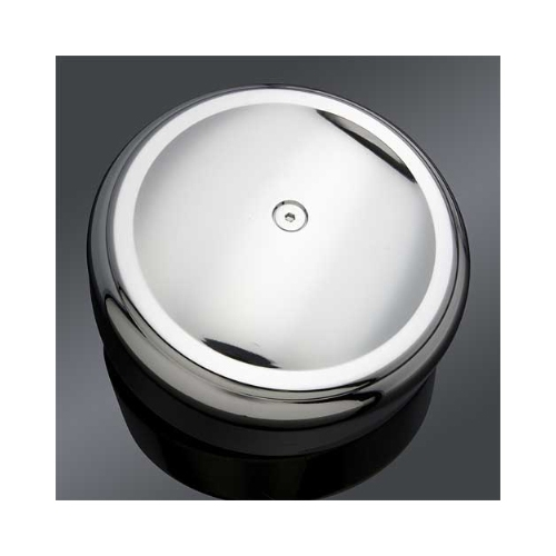 """Arlen Ness Smooth Chrome 8"""" Round Air Cleaner Cover"""