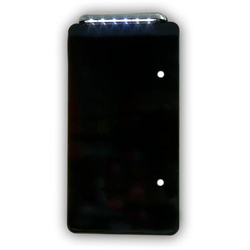 ナンバー灯プレート ブラック