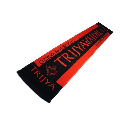 TRIJYA オリジナルマフラータオル 赤×黒