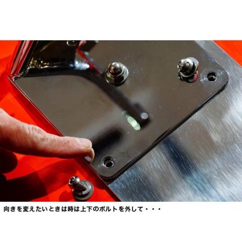 ソフテイル用VSR ナンバーサイドマウントステーLED ブラック/SOFTAIL