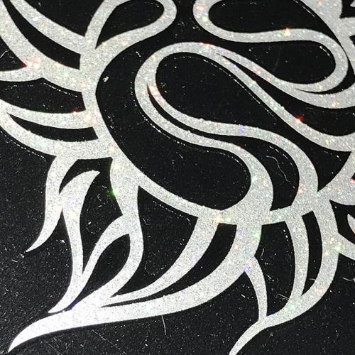 TRIJYA 太陽マークステッカーレッド(L)